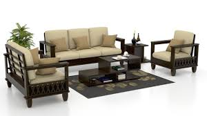 Small Picture Wooden Sofa Buy Wooden Sofa Set Online Best Designs at