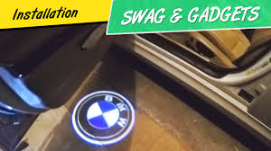 bmw m3 logo 3d. how to install bmw door welcome lights 3d shadow projector logo laser youtube bmw m3 3d n