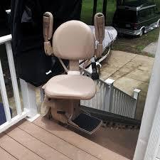 chair lift elderly. Bruno SRE2010E Outdoor Residential Straight Rail Stair Lift Chair Elderly