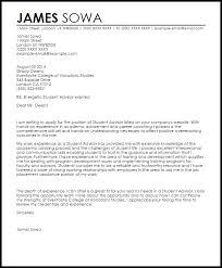 cover letter student student advisor cover letter sample livecareer