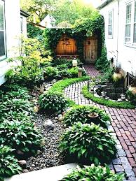 backyard ground cover option simple landscaping ideas around house garden and patio narrow side yard design with no grass trees playsets cov
