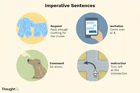 definition and examples of imperative sentences in english