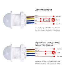 Light Sensor Wiring Diagram 110 PIR Sensor Wiring