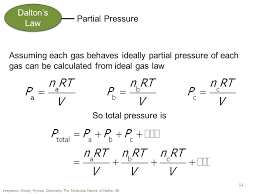 total pressure equation chemistry. dalton\u0027s law partial pressure assuming each gas behaves ideally of can be total equation chemistry