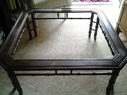 before and after faux bamboo coffee table