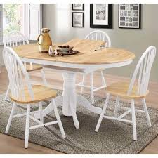 rhode island round extending dining table with 4 windsor chairs for idea 17