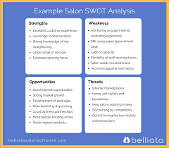 Swot Analysis Example Use This Example Salon SWOT Analysis To Help You Define Your Salon 14