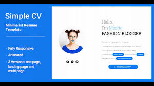 Simplecv Animated Responsive Cv And Resume Html5 Template Themeforest Website Templates And