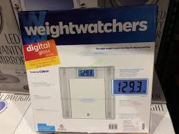 costco 1170723 weight watchers digital glass scale back