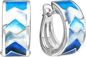 Купить Серебряные <b>серьги</b> кольца конго Ювелирные Традиции ...