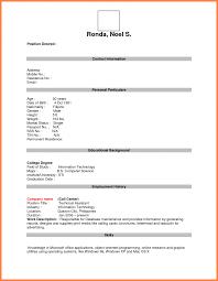 Blank Resume Format For Teachers Job Pdf Sample Template Printable