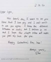 long distance relationship love letter valentine s day