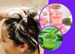 mix aloe vera gel and rose water in