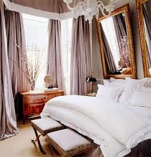 Full size of Romantic Bedroom Luxurious Bedroom Beige Curtains White  Bedding Gold Color Mirror Frame Patterned