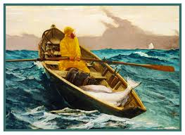 Details About Fog Warning Dory Boat Seascape Winslow Homer Counted Cross Stitch Pattern