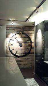 barnwood wall clock s tended barnwood tan wall clock