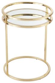 luxe gold brass ring minimalist round accent table mirrored open round accent contemporary side tables and end tables by my sy home