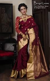 Latest Design Kanjivaram Sarees Art Silk Kanjivaram Saree In Maroon And Gold Saree Blouse