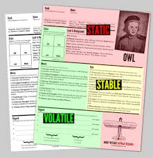 Rpg Character Sheet Designer Visual Design As Metaphor The Evolution Of A Character