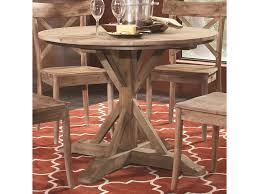 Largo Callista Rustic Casual Round Pedestal Table Lindys
