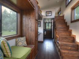 Designing a tiny house Le Tuan Staircase And Window Seat In Tiny Home Hgtvcom Smart Storage Ideas From Tiny House Dwellers Hgtv