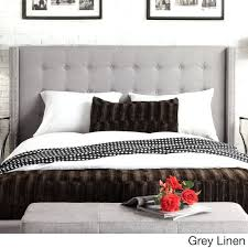 Headboards: Inspire Q Marion Nailhead Wingback Tufted Queen Sized Headboard  Overstockcom Shopping Overstock King Metal