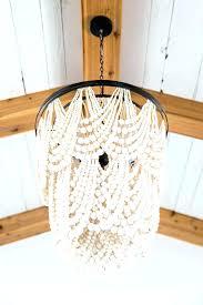 magnificent amelia indoor outdoor wood bead chandelier