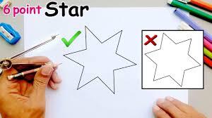 How To Draw A Star Design Draw 6 Point Star