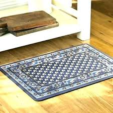 blue kitchen rug rugs navy impressive cushioned mat comfort