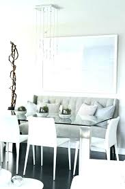 upholstered dining banquette contemporary room with l shaped sets