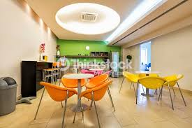 office canteen. Small Office Canteen Interior : Stock Photo M