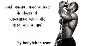 Gym Workout Diet Chart In Hindi Diet Chart And Workout Schedule In Hindi Bodylab In