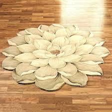 flower shaped accent rugs enchanting bathroom bath rug magnolia round unique beautiful modern runner t