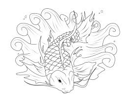 Small Picture Koi Fish Coloring Page Koi Fish Coloring Pages For Adults Designs