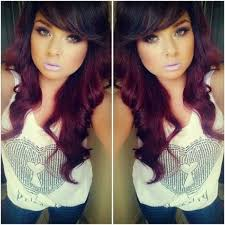 dark brown and violet red hair color maybe more brown then violet for me