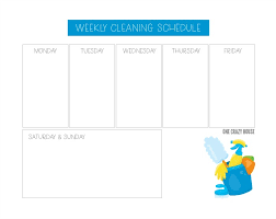Weekly Household Cleaning Schedule Weekly House Cleaning Schedule To Stay On Top Of Things
