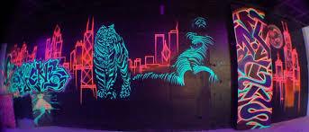 Cool Black Light Wall Paint As Well As  Http://media.cargocollective/1/2/80273/headerimg/1 Black Light