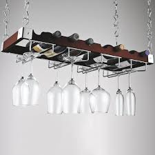 wine rack with gl hanger interior design ideas