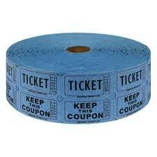 2 part raffle tickets amazon com two 2 rolls of two part blue double roll raffle