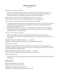 sample resume human resources