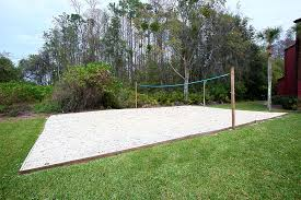 Outer Banks Beach House Rental DuckNorth CarolinaBackyard Beach Volleyball Court