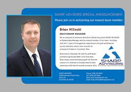 sharp advisors straub hensley andrews retirement planning sharp advisors special announcement please join us in welcoming our newest team member brian hilinski