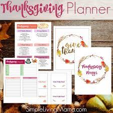 Thanksgiving Menu Planner Printables Simple Living