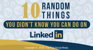 Random Know Linkedin On Things Didn 10 You 't Likely BwxC7zqz