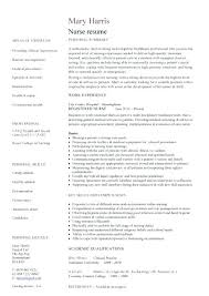 Resume Template Registered Nurse Resume Letter Directory