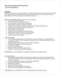 Music Manager Job Description Sample Office Manager Job Description 9 Examples In Pdf Word