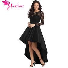 autumn black lace dress women work casual slim fashion o neck hollow out blue dresses ladies a line vintage vestidos new arrival