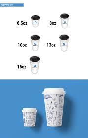 Paper Cup Size Chart Business Card Sticker Printing Services Aladdinprint Com