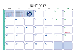 June 2017 Printable Calendar Template Printable 2017 2018 2019