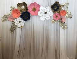 Paper Flower Photo Booth Backdrop Paper Flower Photobooth Backdrop Rome Fontanacountryinn Com